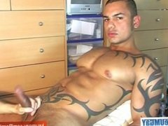 Hunk guy get wanked his huge cock by me!
