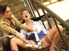 Fetish euro glam horny lesbos