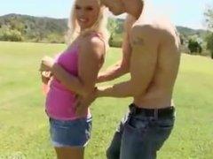 Sexy Tara Lynn enjoys big white cock