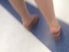 candid wedge sexy feet