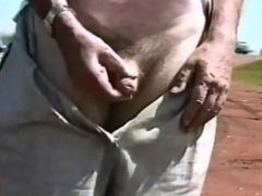 Penis Exposure and Orgasm on Public Beach