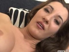 Brutal women fisting on the couch