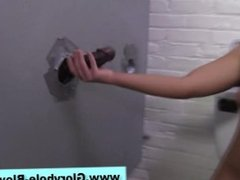 Creampie for whore at gloryhole