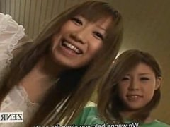 Subtitled Japanese AV star duo cleans bathhouse naked