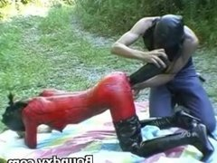 Woman In Latex Fetish Inhuman Domination