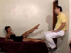 short but good french footdomination