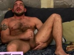 Naughty dude cums stoking his cock