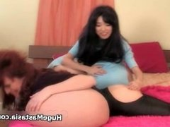 Busty asian babe gets horny spanking part4