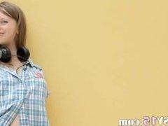 Fingering of super skinny russian teen