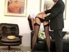 Mature stocking milf flirting