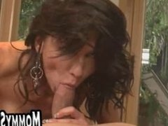 Horny MILF loves cock