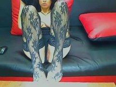 Busty Brunette Stockings