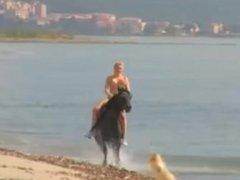 Riding naked bareback