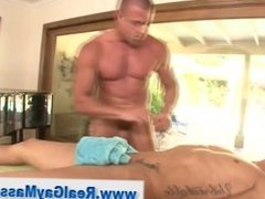 Gay masseur seduces straighty