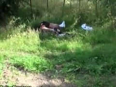 Amateur ass ramming outdoors
