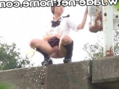 DGSS-02 Leaving school girl student Field pee Superb view spot 2