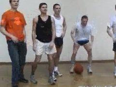 Basket Ball team show off their cocks