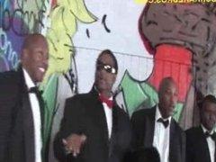 Brunette Entertains Black Men Group