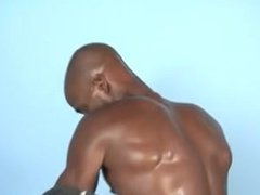 Interracial Bareback Gym Fuck with Parker Wiley