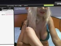 Western Blonde Khatya giving Foot Massage to a Big Nordic Penis Dildo
