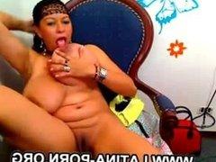 Huge Tits Latina Milf Masturbation Pussy