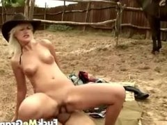 Fat old guy fucked by blonde cutie