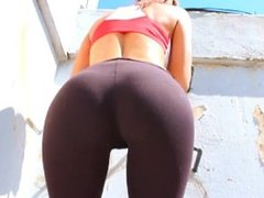 Perfect Latina Ass in Thong and Tight Leggins. Plus Big Tits!