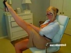 The best strip I have ever seen in the web cam, The hottest blond.