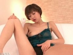 Solo Masturbation With Asian Cute And A Pink Dildo