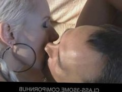 Milf and Teeny sharing cock in hot MFF fuck