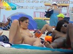 My Wife Teasing Black Cocks At The Nude Beach!
