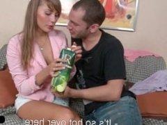 Lovely Teen Eats Dick for Breakfast