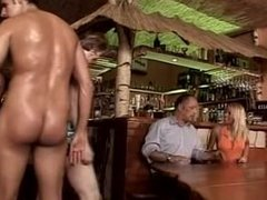 Orgy in a german bar