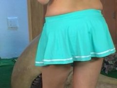 Carli Banks masturbating cheerleader
