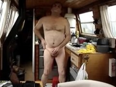 Dude jerking off on boat