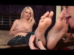 Danielle Trixie's Topless Foot Worship