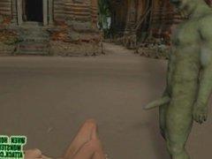 3D Monster Porn Belly Dancer And Goblin