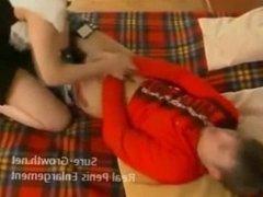Aunt seduces her nephew after school