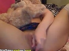 Blonde Teen Fucks her Tight Pink Pussy