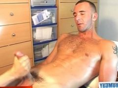 A sexy french guy get wanked his huge cock by a guy in spite of him !