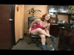 Curvy Mylie Redhead POV