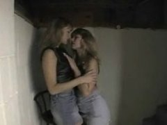 Daphne & Friend In Leather Smoking a More 120