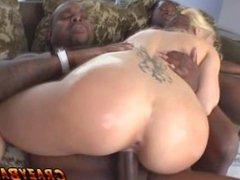 Mariah Madysinn fucked in all her holes by black monster cocks!