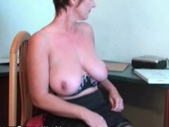 Classy Granny Fucks Her Pussy And Asshole With Dildos In Hotel Room