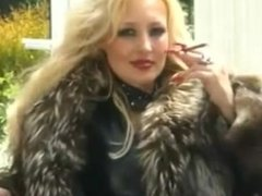 Classy whore in fur teases & smokes More 120's / Smoking fetish - no nudity