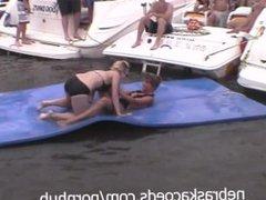 Many Random Women Flashing their Perfect Tits on Lake of the Ozarks Missour