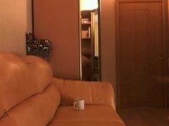 Webcam cutie smoking and riding dildo