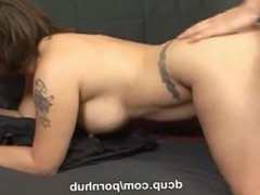 Chubby big titted Mahina rides a big hard cock only at DCup
