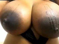 Ebony Huge Natural Boobs