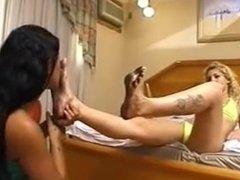 Lesbian Licking Feet Clean